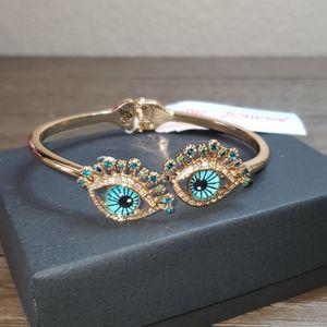 Betsey Johnson Blue Eye Hinge Bracelet